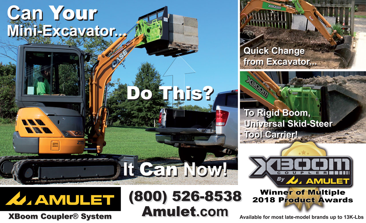 XBoom Coupler by AMULET - Can your excavator do this?