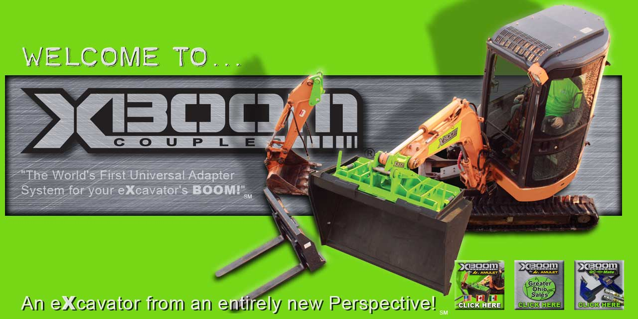 Xboom Excavator Coupler System Excavator Skid Steer Loader Adapter